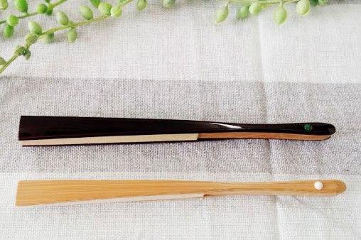 表千家扇子黒塗りと白竹