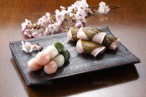 花見団子と桜餅4月和菓子