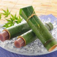 竹に入った水羊羹8月の和菓子