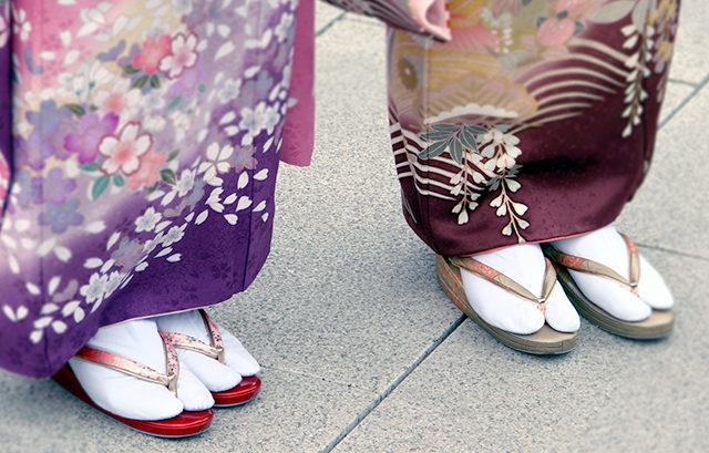 足袋の種類と履き方